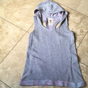 Roxy multicolor cotton racer back hoodie